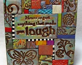 Never Regret Polymer Clay Tile Mosiac MM40033