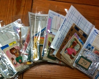 Grab Bag Lot of Vintage Ephemera  for altered and collage art DIY