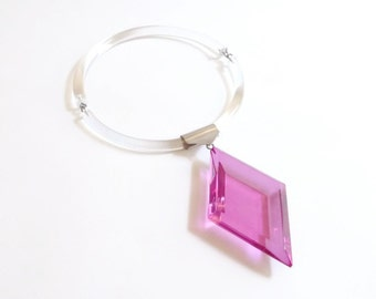 Modernist Lucite Necklace by Judith Hendler