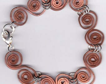 Antiqued Copper Swirl Bracelet