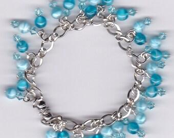 Blue Dangle Bracelet