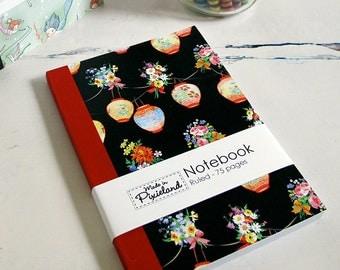 Black lanterns A6 Notebook