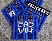 Doctor Who Plastic Canvas Coaster Set