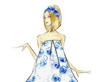 Poppy - Fashion Illustration - Brooke Hagel