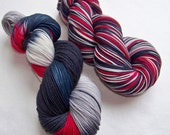 Hand Painted 2-Ply Superwash Merino and Nylon Sock -- Doctor Who: The Doctor's New Clothes (Twelfth Doctor)