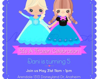 Frozen Christmas or birthday party Invitation