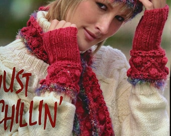 Knitting Patterns Knitter's Magazine Winter 2006 Sweater Cardigan Vest Scarf Fingerless Gloves Headband Paper Original NOT a PDF