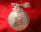 "Boy ""Sports Nut"" Athlete,  Super-Jock, Original Handpainted Personalized Ornament"