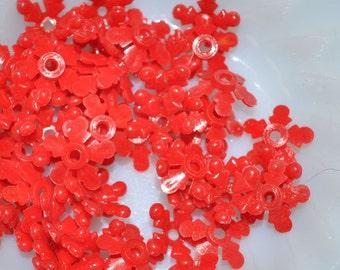 Vintage Red Plastic Flowers 2 (12)