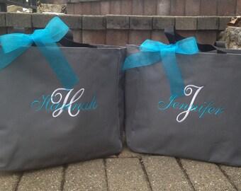Personalized Bridesmaid Totes Monogrammed - Set of 8 - Bridal Party Gifts Bridesmaid Totes