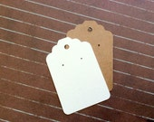 35 Tag Earring cards, post earring cards,  jewelry display