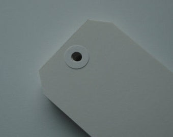 number 8 WHITE Shipping Tags used for Tim Holtz 12 days of Christmas Tags 100pcs
