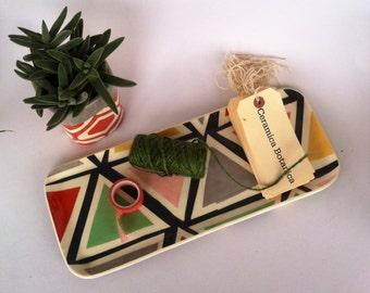 Triangle Ceramic serving tray