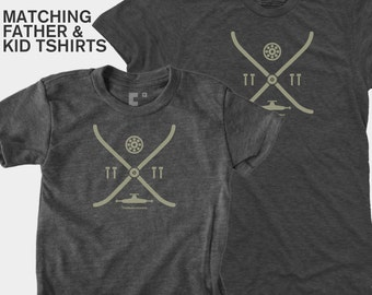 Father Son Matching Shirts, Skateboarding Matching Dad and Kids TShirt, Matching Daddy Daughter, Hipster, Matching Daddy Son, Gift for Dad