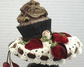 Chocolate Cupcake Headpiece Fascinator On Sale