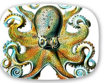Octopus Blue Sea Monster Melamine Serving Platter Tray