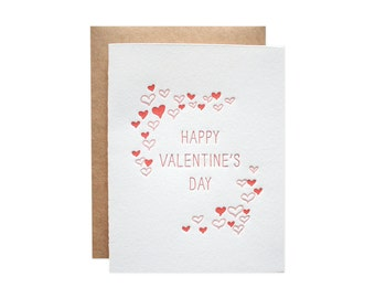 Happy Valentine's Day Letterpress Card