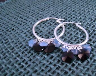 Swarovski Crystal and Sterling Silver Chandelier Earrings