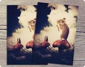 Mouse Postcard, 4x6 Woodland Postcard, The Little Mouse Prince