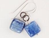 Earrings Medium Sterling Silver Kyanite