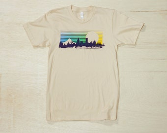 Men's Portland Skyline Tee in Blue