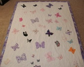 Baby Clothes Butterfly quilt