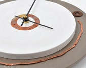 Custom Circles of Metal Clock with Copper Numbers