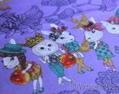 LAST Joli Pomme Animals on Lavender Cotton Half Yard
