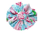 FABRIC FLOWER Add on: Made from Lilly Pulitzer Lobstah Roll Fabric