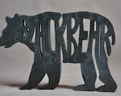 Woodland  Bear or Black Bear Wood Puzzle Hand Cut Toy