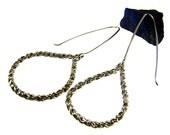 Silver Earrings Reverse Rope Chain