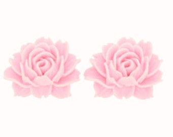 """CLEARANCE - 24 pieces-Large Rose Cabochon 1 1/2"""" (40 mm) in PINK"""