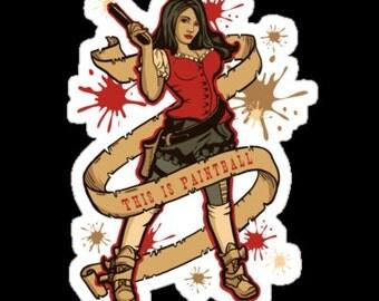 Individual Die Cut Annie Get Your Gun Sticker (Item 01-002)