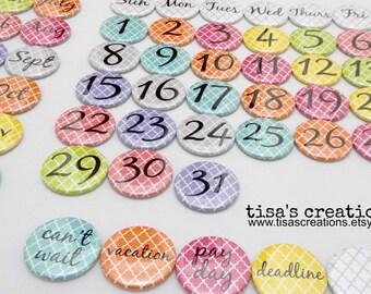 Perpetual Magnet Calendar Colorful Design
