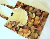 Grocery Bag Reusable Washable Apple Print