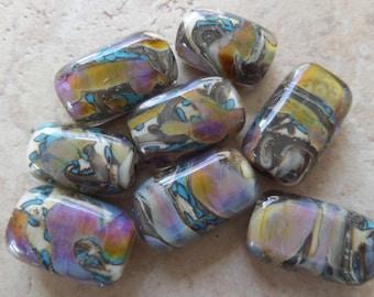stoursglass  Double Helix Encased Cubes Labpwork Beads