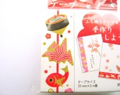 New Year Sticker Tape  Traditional Japanese New Year Symbols Lucky Fish Games And More
