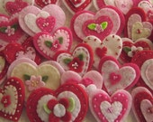 Mystery Felt Heart Embellishments