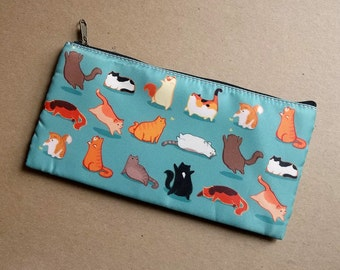 Fat Cats Zipper Cosmetic Bag/Pencil Case