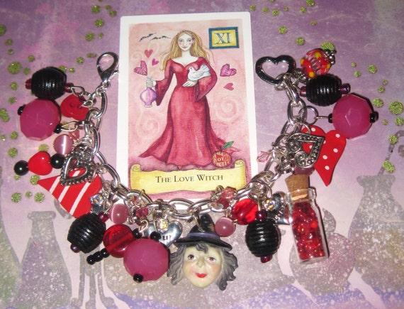 Fortune Teller Charm Bracelet, Tarot Bracelet, Fortune Teller Bracelet, Love Spell, Tarot Charm Bracelet, Gypsy Bracelet, Valentine Jewelry