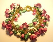 Light Pink Rose Charm Bracelet