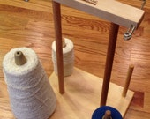 4 Spool Maple Weavers' Yarn Cone Holder