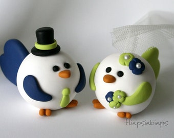 Custom Bird Wedding Cake Topper