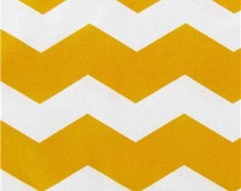 YELLOW CHEVRON Yardage Fabric by the yard yellow and white zigzag chevron print cotton