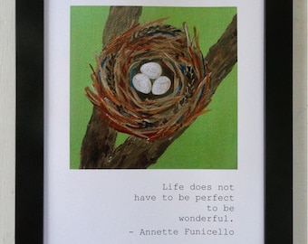Annette Funicello Quote / Imperfect Nest Print (8.5 x 11)
