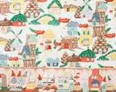 Reserved for Mary - 4 prints - fat quarter set - 36.30 - Gnome - Cool Retro Christmas Fabric By Alexander Henry - Pink Tea - 9.95 per yard