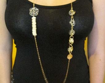 SariGlassman - OOAK Lampwork necklace from the broken glass from a Jewish Wedding - 22k gold SRA