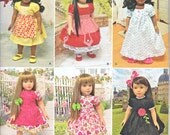 """Simpicity 1486 Doll Clothes for 18"""" American Girl Dolls Dress Nightgown Panties More Sewing Pattern UNCUT"""