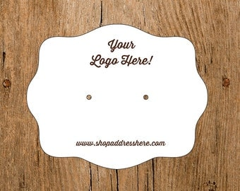 Custom Earring Cards with Your Logo Jewelry Display Cards
