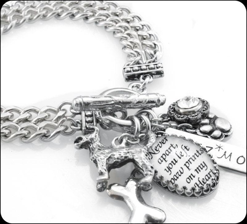 Design Your Own Custom Bangle Charm Bracelet Pick Your Charms: Personalized Dog Bracelet Dog Jewelry Dog By BlackberryDesigns